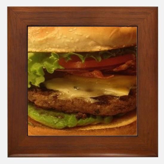 novelty hamburger Framed Tile