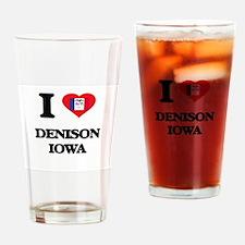 I love Denison Iowa Drinking Glass