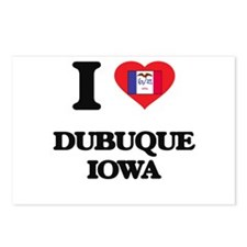 I love Dubuque Iowa Postcards (Package of 8)