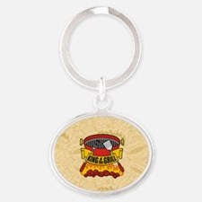 King of the Grill Oval Keychain