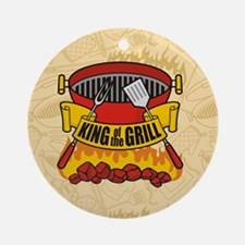 King of the Grill Round Ornament
