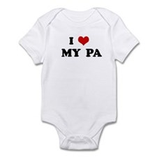 I Love   MY  PA Infant Bodysuit