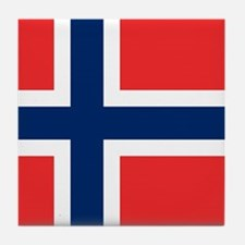 Flag of Norway Tile Coaster