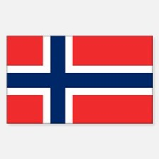 Flag of Norway Rectangle Decal