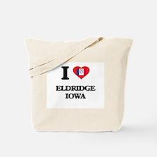 I love Eldridge Iowa Tote Bag