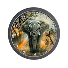 Elephant Sunrise Wall Clock