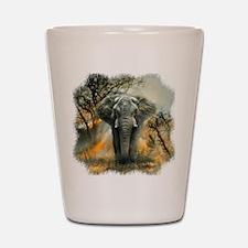 Elephant Sunrise Shot Glass