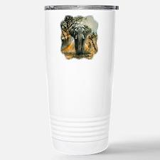 Elephant Sunrise Stainless Steel Travel Mug