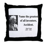 Mark Twain 9 Throw Pillow