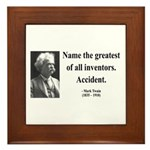 Mark Twain 9 Framed Tile