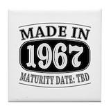1967 vintage Tile Coasters
