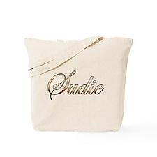 Gold Sudie Tote Bag