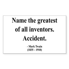 Mark Twain 9 Rectangle Sticker