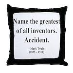 Mark Twain 9 Throw Pillow