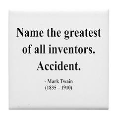 Mark Twain 9 Tile Coaster