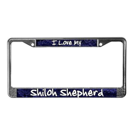 Funky Love Shiloh Shepherd License Plate Frame