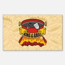 King of the Grill Decal