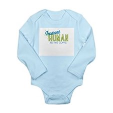 Cute Humane Long Sleeve Infant Bodysuit