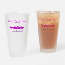 Distressed Pink Flamingos (Custom) Drinking Glass