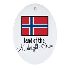 Norway Land of the Midnight Sun Oval Ornament