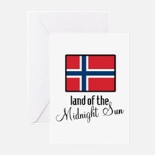 Norway Land of the Midnight Sun Greeting Cards (Pk
