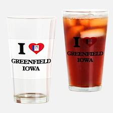 I love Greenfield Iowa Drinking Glass