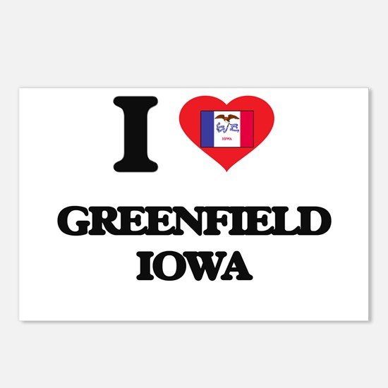 I love Greenfield Iowa Postcards (Package of 8)