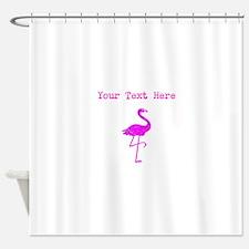 Distressed Pink Flamingo (Custom) Shower Curtain