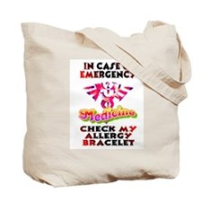 Allergy Warning Tote Bag