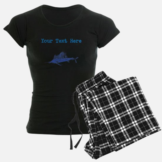 Distressed Blue Sail Fish (Custom) Pajamas