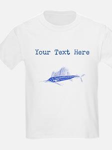 Distressed Blue Sail Fish (Custom) T-Shirt