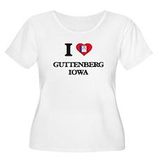 I love Guttenberg Iowa Plus Size T-Shirt