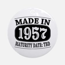 Made in 1957 - Maturity Date TDB Ornament (Round)