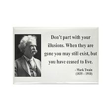 Mark Twain 10 Rectangle Magnet