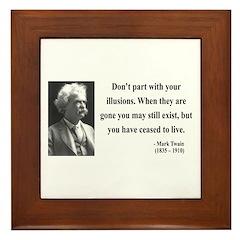 Mark Twain 10 Framed Tile
