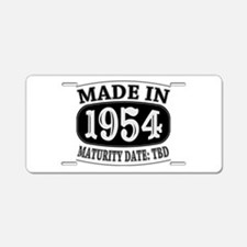 Made in 1954 - Maturity Dat Aluminum License Plate