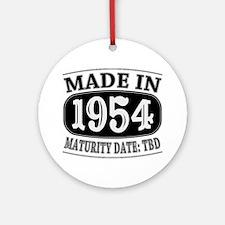 Made in 1954 - Maturity Date TDB Ornament (Round)