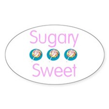 Sugary Sweet Oval Decal