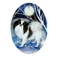 Kobe Japanese Chin Dog Ornament (oval)