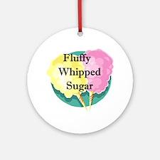 Fluffy Whipper Sugar  Ornament (Round)