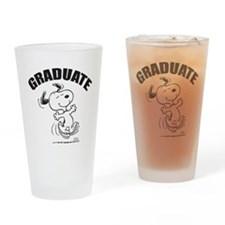 Dancing Dog Graduate Drinking Glass