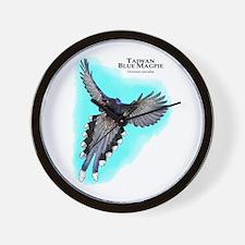 Taiwan Blue Magpie Wall Clock