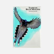 Taiwan Blue Magpie Rectangle Magnet