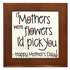 If Mothers Were Flowers I'd Pick You, Framed T