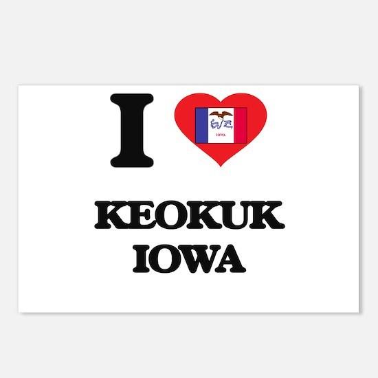 I love Keokuk Iowa Postcards (Package of 8)