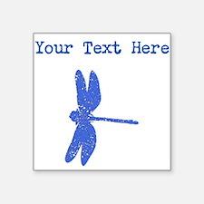 Distressed Blue Dragonfly (Custom) Sticker
