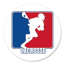 Major League Lacrosse Round Car Magnet