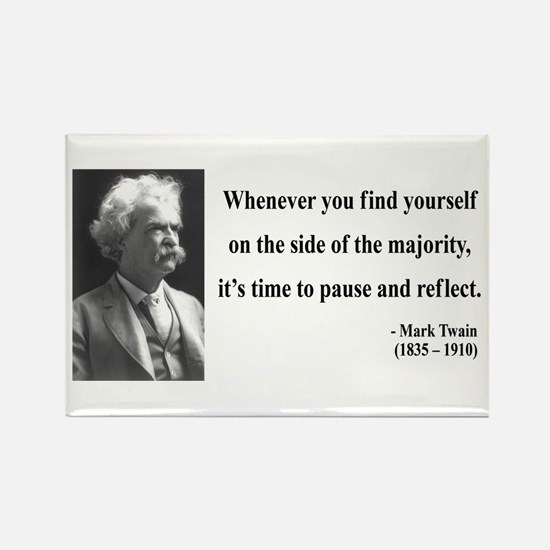 Mark Twain 11 Rectangle Magnet