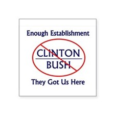 No Bush No Clinton Sticker