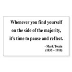 Mark Twain 11 Rectangle Sticker